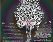 custom ketubah print- custom text ,color and size. express mail