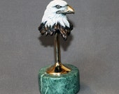 Awesome Eagle Bronze Sculpture Figurine Signed Limited Edition