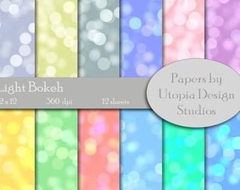 Digital Paper Pack - Light Bokeh