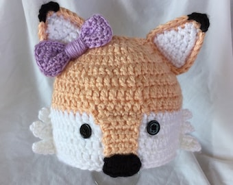 Baby Girl Crochet Fox Hat