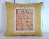 50% CLEARANCE SALE Autumn pillow, fall pillow, thanksgiving,shabby chic, decorative pillows, rustic autumn decor, rustic halloween, rustic
