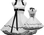 50's vintage wedding dress white blackTailor Made with petticoat reserved