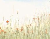 Meadow Artwork Fine Art Print from Original Watercolor Study