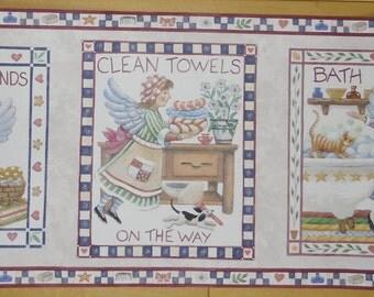 "Wallpaper Border - Brownstone Country Angel Bathtime, RC005133B, 2 Rolls, 9"" x 5 Yards, Rustic Wallpaper Border"