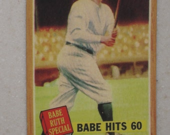 1962 Topps babe ruth  #139 vintage look