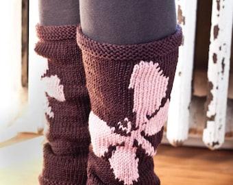 E Pattern Download Butterfly Leg Warmer