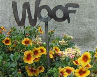 Mini Woof Garden stake