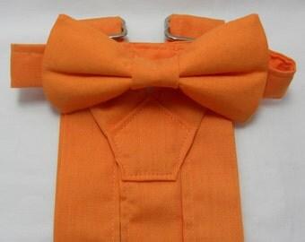 On Sale: Tangerine Suspenders & Tangerine Bowtie. Bridal Color Tangerine Orange. Sizes Infant-Adult. Free Shipping Offer. Orange Suspenders.
