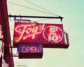 signage, vintage, five and ten,  fine art photography,