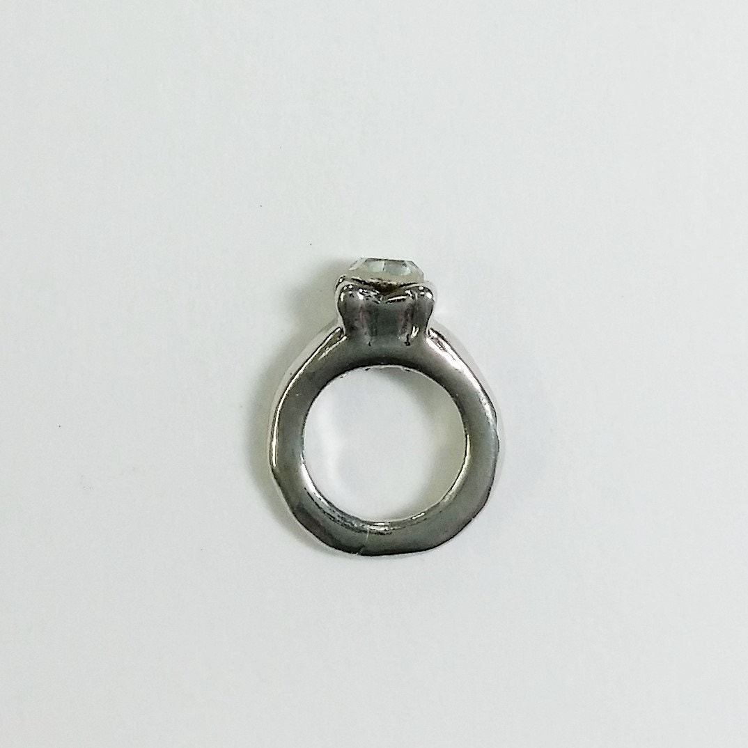 1 pc small wedding ring floating charm fits pendant by