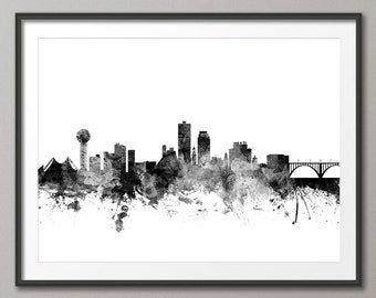 Knoxville Skyline, Knoxville Tennessee Cityscape Art Print (2125)