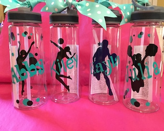 Personalized Water Bottles Sprts Themed w/Sip Top BPA Free 22oz.