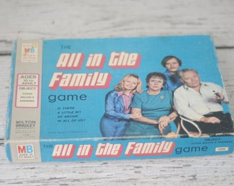 Vintage All In The Family TV Show 1972 Milton Bradley Board Game VGC