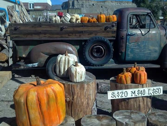 Fall decor wooden pumpkins large white pumpkin wood