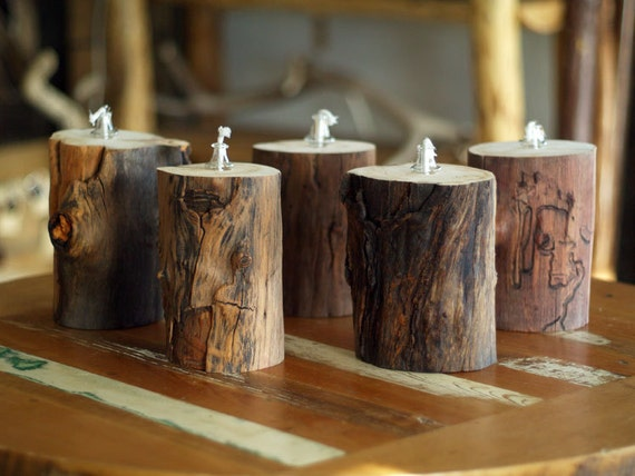 rustic wedding aspen log candles aspen logs with by woodzwayz