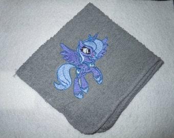 Princess Luna Embroidered Wash/Face Cloth