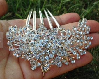 Bridal Hair comb / Flower girl Hair comb / Mother of the Bride Hair comb / Crystal Rhinestone Hair comb