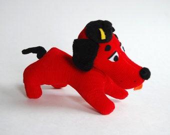 Vintage Corduroy Plush Toy Dog