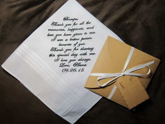 the Bride - Personalized Wedding Handkerchief With Free Gift Envelope ...