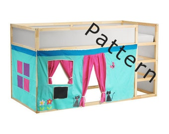 Bed Playhouse Pattern / Kura bed playhouse / Bed curtain pattern
