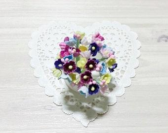 Forget Me Nots Flowers - mix colors (b)