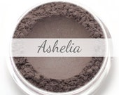 """Eyeshadow Sample - """"Ashelia"""" - plummy taupe brown with shimmer (Vegan) Mineral Makeup Eye Color Pigment"""