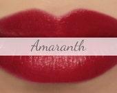 "Vegan Lipstick Sample - ""Amaranth"" (bright pink toned red lipstick) natural lip tint, balm, lip colour mineral lipstick"