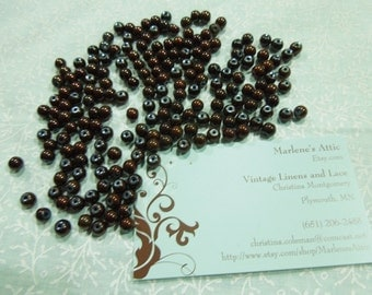 Lot of Assorted Shiny Brown Beads for jewelry, bracelet, necklaces, earrings by MarlenesAttic