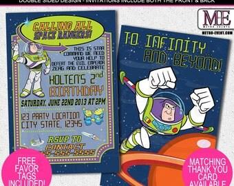 Buzz Lightyear Birthday Invitations, Toy Story Invitations, Buzz Lightyear Invitation, Toy Story Invite, Buzz Lightyear Birthday, Invitation