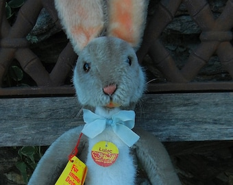 SALE-Vintage Steiff LuLac Easter Rabbit  ALL IDs #3142/43  Mint 1974-1980 (only)  Mohair Handmade German Hase Toy Collectible