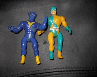 1984 Mighty Crusaders action figures - The Wolf + The Web - archie comics