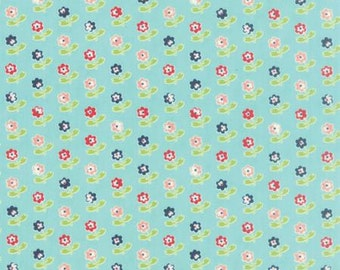Vintage Picnic Rosie Aqua by Bonnie and Camille from Moda -1 yard