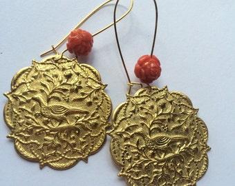 Vintage partridge earrings