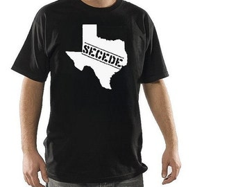 Sale - Size XL - New Texas Secede Branded White Print Black tee shirt Texas Pride gift for dad conservative patriot