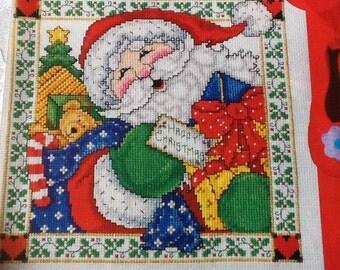G- JOLLY SANTA -cross stitch pattern only
