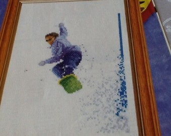 C - THE SNOWBOARDER - Cross Stitch Pattern Only