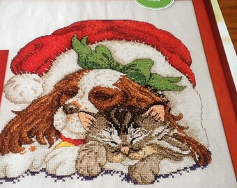 Christmas - NAPPING PET PALS - Cross Stitch Pattern Only
