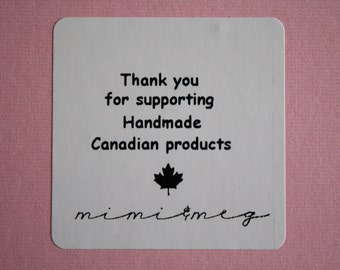 Qty 250 - Thank you Sticker - Custom Product Sticker - Custom Product Label - Various Quantities & Dimensions Available