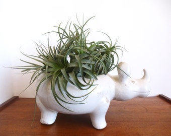 Vintage David Stewart for Lion's Valley Pottery Rhino Planter