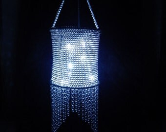 Unique OOAK All Chainmaille Hanging Lantern Votive Candle Holder
