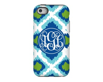 Personalized iPhone 6 case, Ikat, iPhone 5 case, iPhone tough case, iPhone snap on case, 3d iPhone case