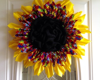 Autism Awareness Annual - Handmade Cloth Wreath
