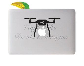 Remote Control Drone Photography Surveillance Spy Camera Decal for Macbook