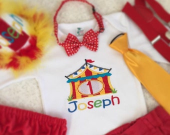 Personalised Circus Birthday Top