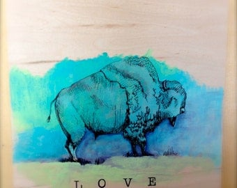 Blue Bison from the LOVE Series