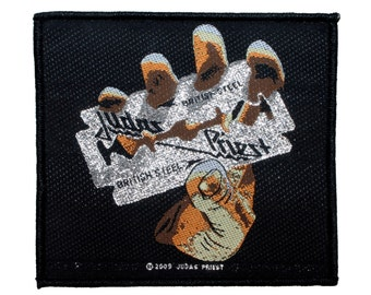 "Heavy Metal Band ""Judas Priest: British Steel"" Album Art Sew On Applique Patch"