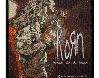 "Nu Metal Music ""Korn: Freak on a Leash"" Single Song Art Sew On Applique Patch"