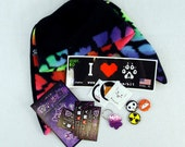 SALE 5 OFF Pawstar Luck of the Paw Grab Bag Lucky Packet Mix Surprise Blind Fleece Beanie Hat Stickers Buttons Keychain Zipper pull 9993