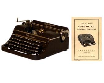 The Underwood Universal Typewriter User's Manual