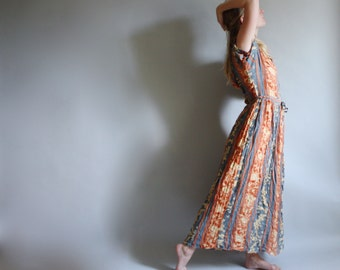90s Midi Bohemian Rayon Dress Made in India